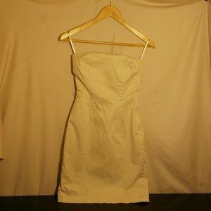 H&M - Strapless Khaki Dress